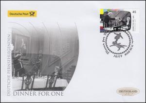 3415 Dinner for One, Schmuck-FDC Deutschland exklusiv
