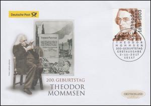 3343 Theodor Mommsen, Schmuck-FDC Deutschland exklusiv