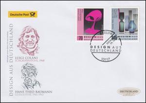3271-3272 Design aus Deutschland, Satz auf Schmuck-FDC Deutschland exklusiv