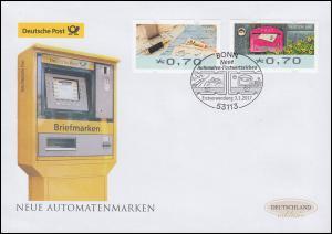 8-9 ATM-FDC schreiben & empfangen, 2 Werte auf Schmuck-FDC Deutschland exklusiv
