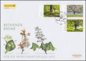 2980-2982 Wofa Blühende Bäume, Satz auf Schmuck-FDC Deutschland exklusiv