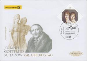 3079 Johann Gottfried Schadow, Schmuck-FDC Deutschland exklusiv