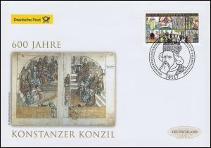 3091 Konzil von Konstanz, Schmuck-FDC Deutschland exklusiv