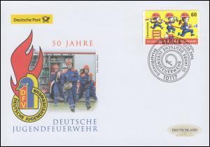 3099 Deutsche Jugendfeuerwehr, Schmuck-FDC Deutschland exklusiv
