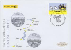 3101 Tag der Briefmarke - Lindauer Bote, Schmuck-FDC Deutschland exklusiv