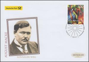 3103 August Macke: Sonniger Weg, Schmuck-FDC Deutschland exklusiv