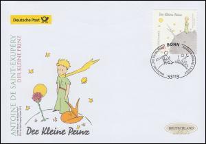 3104 Der kleine Prinz, selbstklebend, Schmuck-FDC Deutschland exklusiv