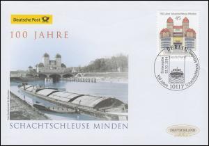 3107 Schachtschleuse Minden, Schmuck-FDC Deutschland exklusiv