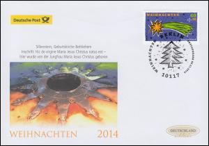 3108 Stern von Bethlehem, nassklebend, Schmuck-FDC Deutschland exklusiv