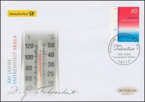 3109 Fahrenheit-Skala - Temperaturmessung, Schmuck-FDC Deutschland exklusiv