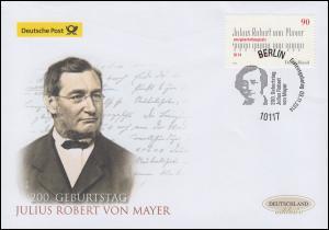 3110 Julius Robert von Mayer, Schmuck-FDC Deutschland exklusiv