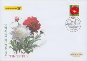 3114 Blume Pfingstrose, nassklebend, Schmuck-FDC Deutschland exklusiv