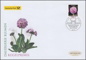 3115 Blume Kugelprimel, Schmuck-FDC Deutschland exklusiv