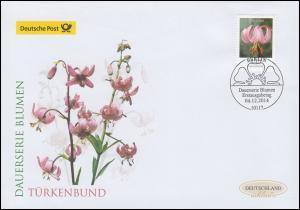 3118 Blume Türkenbundlilie, Schmuck-FDC Deutschland exklusiv