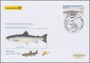 3120 Meerforelle, Schmuck-FDC Deutschland exklusiv