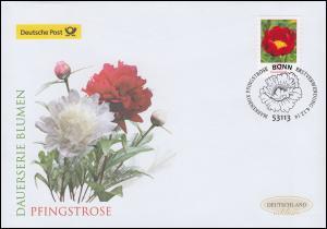 3121 Blume Pfingstrose, selbstklebend, Schmuck-FDC Deutschland exklusiv