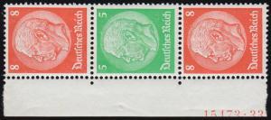 S 122 Hindenburg-ZD 8-5-8, ungefaltet mit Hausauftragsnummer, postfrisch **