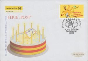 2344 Fünfstellige Postleitzahlen, Schmuck-FDC Deutschland exklusiv