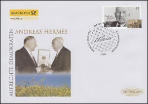 2354 Aufrechte Demokraten: Andreas Hermes, Schmuck-FDC Deutschland exklusiv