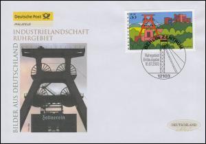 2355 Industrielandschaft Ruhrgebiet, Schmuck-FDC Deutschland exklusiv