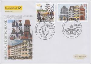 2356-2357 München und Görlitz, Satz auf Schmuck-FDC Deutschland exklusiv