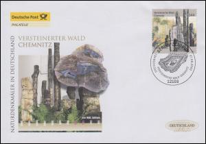 2358 Versteinerter Wald Chemnitz, Schmuck-FDC Deutschland exklusiv