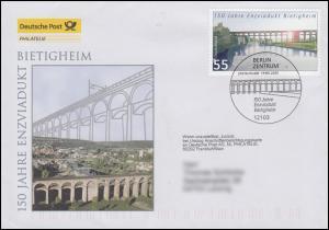 2359 Brücken: Enzviadukt Bietigheim, Schmuck-FDC Deutschland exklusiv