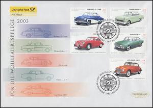 2362-2366 Oldtimer Automobile, Satz auf Schmuck-FDC Deutschland exklusiv