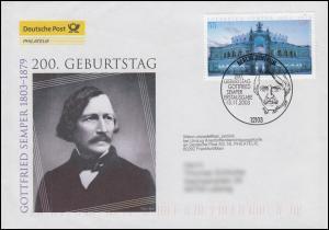 2371 Gottfried Semper - Semperoper Dresden, Schmuck-FDC Deutschland exklusiv