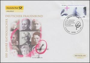 2372 Katholischer Deutscher Frauenbund, Schmuck-FDC Deutschland exklusiv