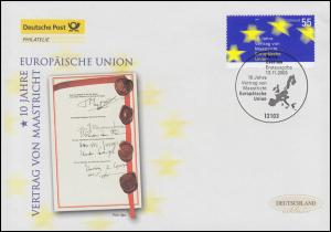2373 Vertrag von Maastrich: Europäische Union, Schmuck-FDC Deutschland exklusiv