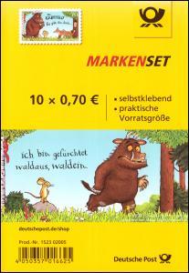 FB 86 Der Grüffelo, Folienblatt mit 10x 3452, postfrisch **