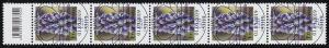 3447 Traubenhyazinthe 120 Cent, 5er-Streifen mit Codierfeld, ESSt Bonn 1.3.19