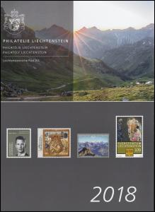 Liechtenstein Jahresmappe 2018 komplett, postfrisch **