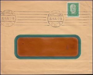 Firmenlochung CFW auf Hindenburg 5 PF als EF auf Drucksache BERLIN 23.11.28