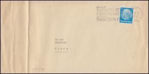 Firmenlochung DMG auf Hindenburg 4 Pf. EF auf Drucksache BERLIN 14.12.32