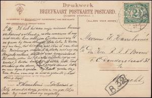 Firmenlochung/Perfin K auf 52 Ziffer auf Humor-AK Banker nach UTRECHT 17.10.05