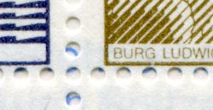 11g MH BuS 1980 - mit Verzähnung bis zum Bildrand der oberen Markenreihe, **