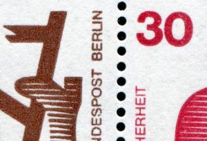 HBl. 17 aus MH 9 Unfall 1974 mit MDF verdicktes BERLIN, Feld 6, **