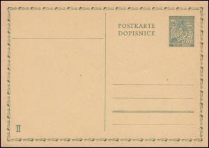 Postkarte P 10 A Lindenzweig mit Früchten 50 h - Antwortteil