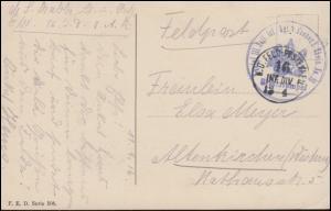 Feldpost BS 2. Rheinsches Infanterie-Regiment von Goeben auf Humor-AK, 12.4.1916