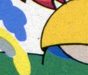 1994 Pumuckl mit PLF schwarzer Punkt links neben dem Bauch, Feld 9, **