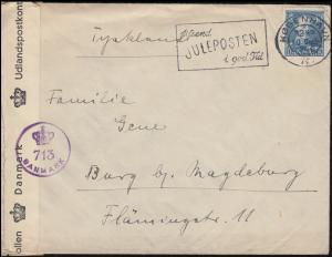 Dänische Zensur DANMARK 713 auf Brief KOBENHAVN 10.10.1946 nach Deutschland