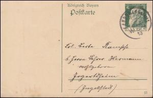 Bayern Postkarte P 87I/03 Luitpold DV 13 aus LANDSBERG (LECH) 10.11.1913