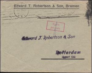 Infla-Notausgabe Gebühr bezahlt / Taxe percue - Stempel Brief BREMEN 3.9.1923