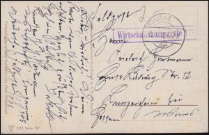 Feldpost B.S. Wirtschaftskompanie 145 - 19.7.18, AK Rethel Partie an der Aisne