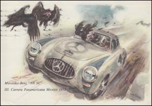 Ansichtskarte Gruss aus Stuttgart Mercedes-Benz 300 SL  5.11.55
