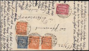 24+27+32 Dienstmarken-MiF Gerichtsbrief LAUENSTEIN/SA. 30.9.22 nach Dittersdorf