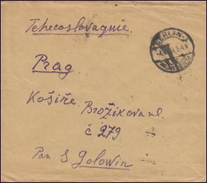 250+252 Infla-MiF auf Auslandsbrief BERLIN-WILMERSDORF 7.8.23 nach Prag