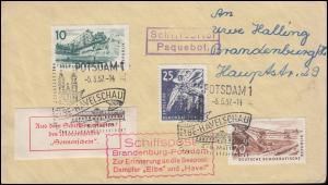 DDR-Schiffspost Paquebot Brandenburg-Potsdam Dampfer Sonnenschein SSt 5.5.1957
